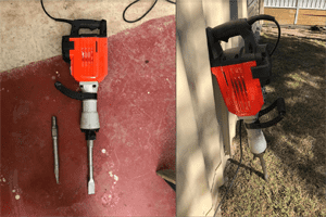 Concrete Jack Hammer - Rogers Little Loaders Dry and Wet